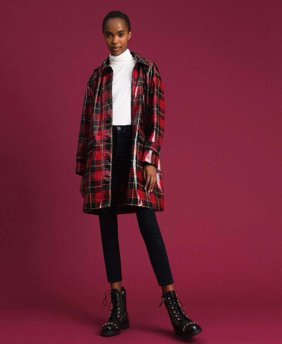 Manteau à carreaux Jacquard Tartan Grenadier Femme 192TP2550-01