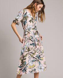 """Vestido de crepé con estampado floral Estampado Exótico Rosa """"Soft Pink"""" Mujer 191ST2232-05"""