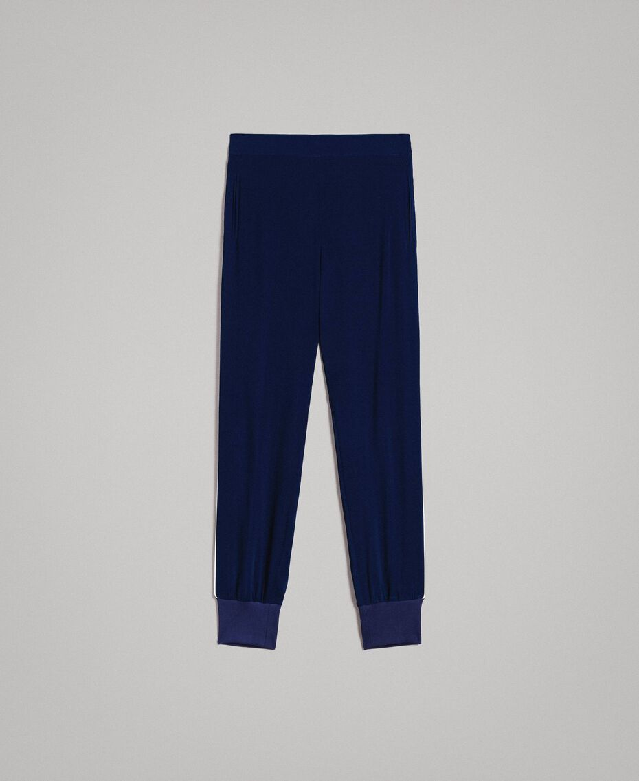 Georgette-Jogginghose Midnight-Blau Frau 191TP2326-0S
