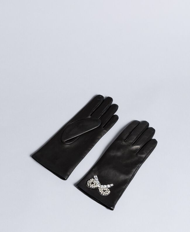 Leather gloves Black Woman AA8P3A-01