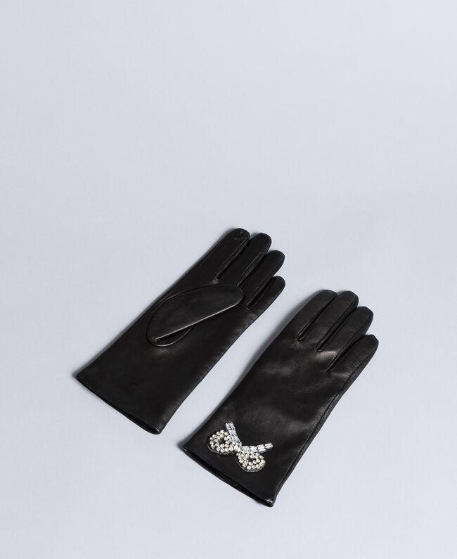 Handschuhe aus Leder Schwarz Frau AA8P3A-01