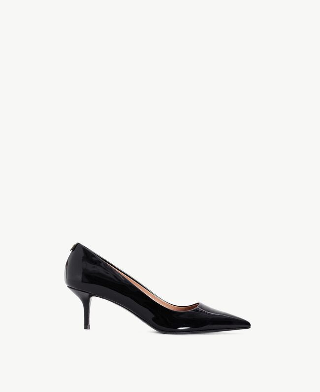 TWINSET Patent leather court shoes Black Female CA7PLY-01