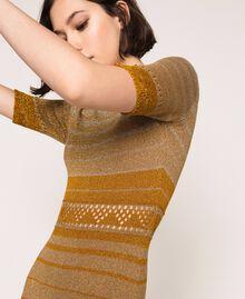 Robe rayée en lurex Rayé Multicolore Or Femme 201TT3090-04