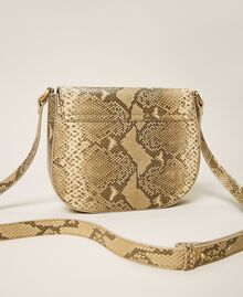Animal print leather shoulder bag Pastel Skin Python Print Woman 202TD8050-04