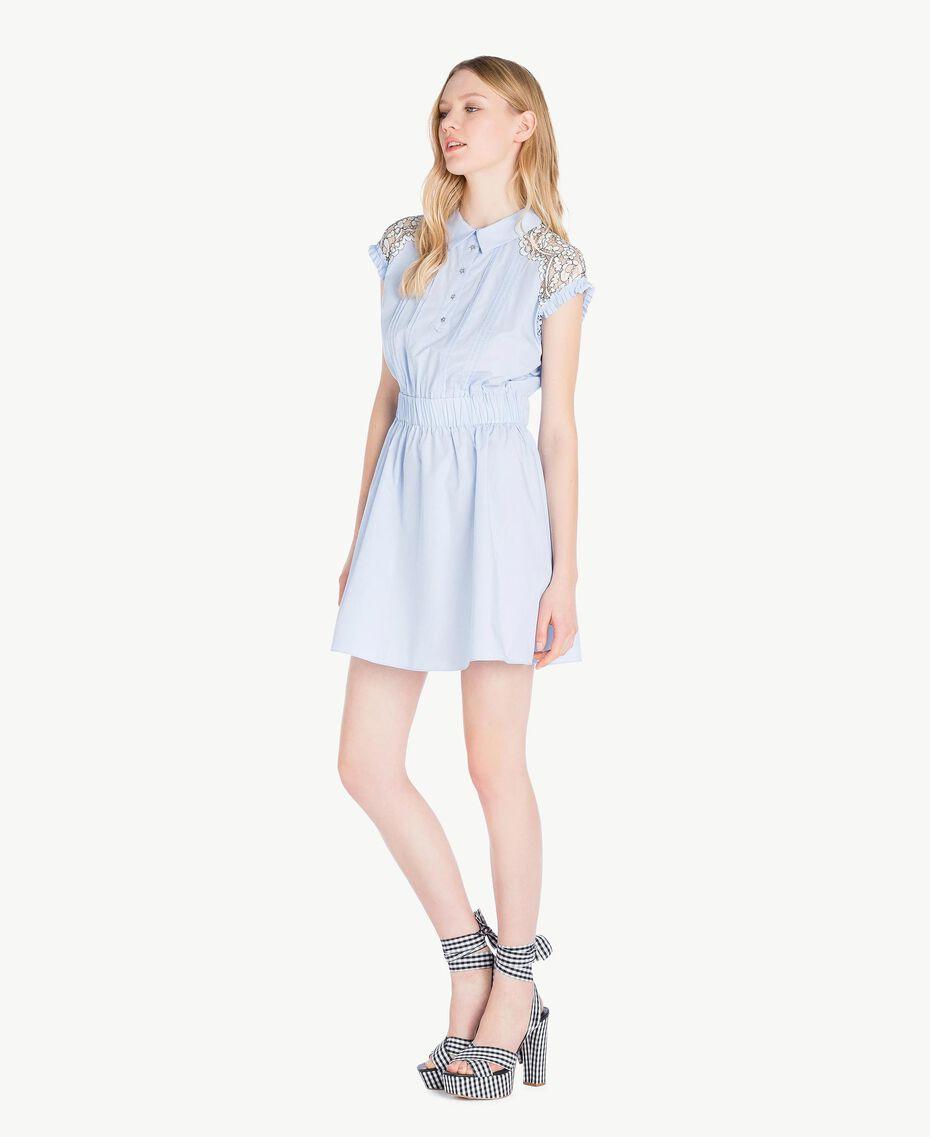 Robe dentelle Topaze Bleu Femme JS82D4-02