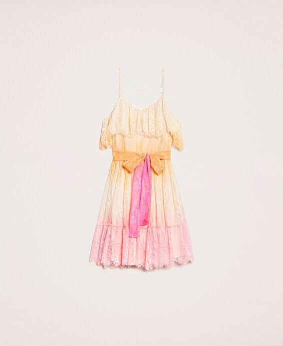 Tie-dye lace dress