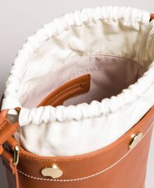Faux leather bucket bag Leather Brown Woman 191TO8111-05