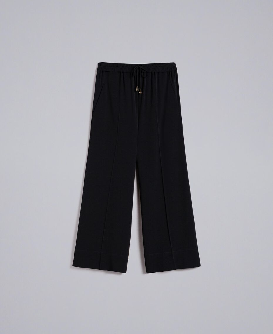 Cropped cady trousers Black Woman PA822P-0S