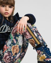 Scuba trousers with floral and graffiti print Graffiti Print Child 192GJ2494-04