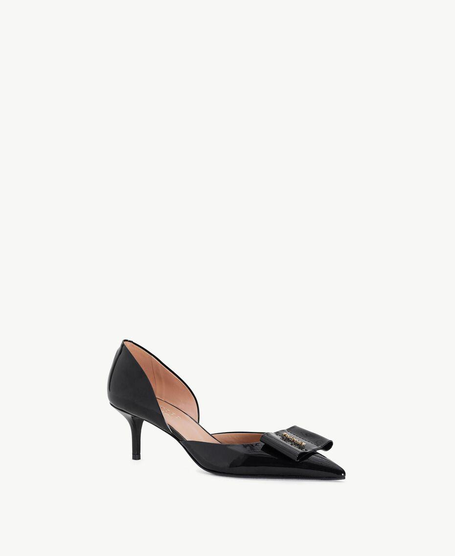 TWINSET Patent leather court shoes Black Female CA7PLU-02