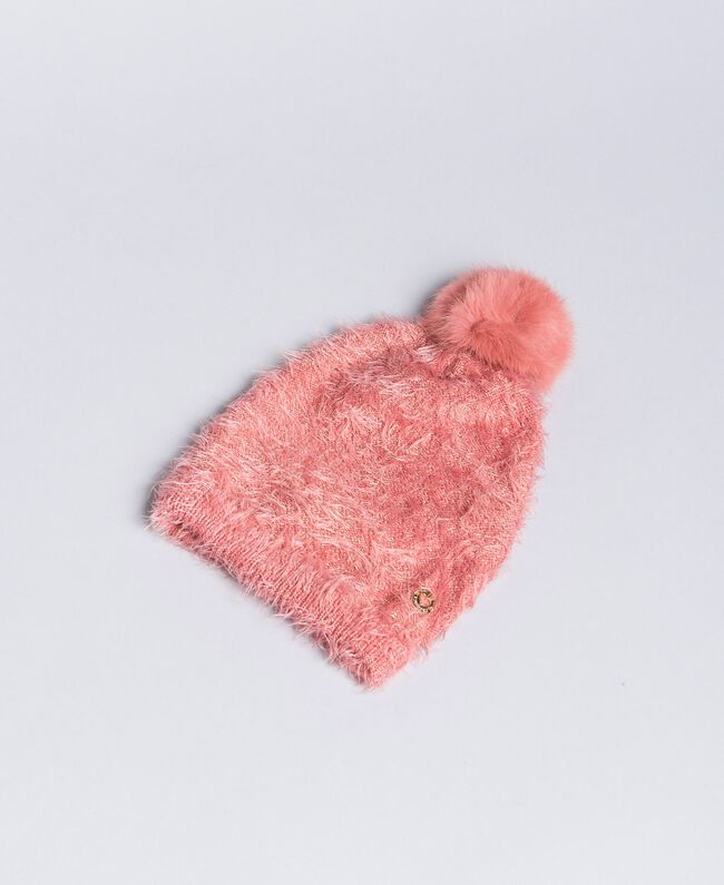 Mütze in Felloptik Dark Rose Kind FA8HAP-01