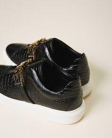 "Sneakers con logo Stampa Coccodrillo Bianco ""Neve"" Donna 202TCP034-04"
