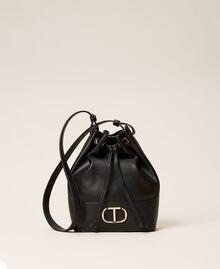 Bucket bag with logo Black Woman 212TB7092-01