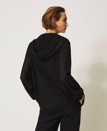 Maxi sweatshirt with embroidery Black Woman 202LI2HMM-04