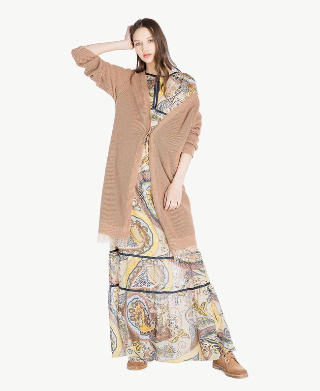 Robe longue imprimée Imprimé Cachemire Femme SS82ME-05