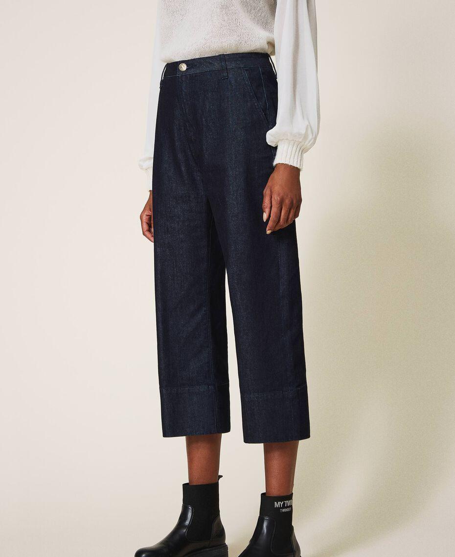 Свободные прямые джинсы Тёмный Деним женщина 202MP2072-02