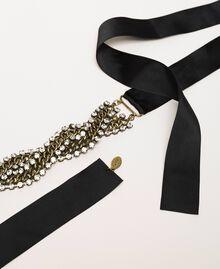 Collier formé par une torsade de chaîne et de strass Cristal Femme 201TA4312-02
