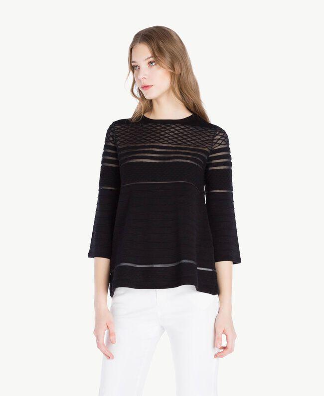 Pullover aus Viskose Schwarz Frau PS8364-01