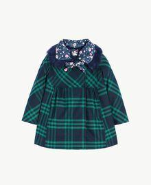 Cappotto check Blue Night / English Green Femmina FA72BA-01