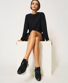 Zapatillas de running con hebilla joya Negro Mujer 202TCP012-0T