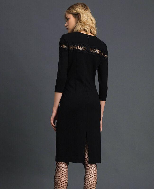 Robe fourreau avec incrustation en dentelle Noir Femme 192TP2093-03