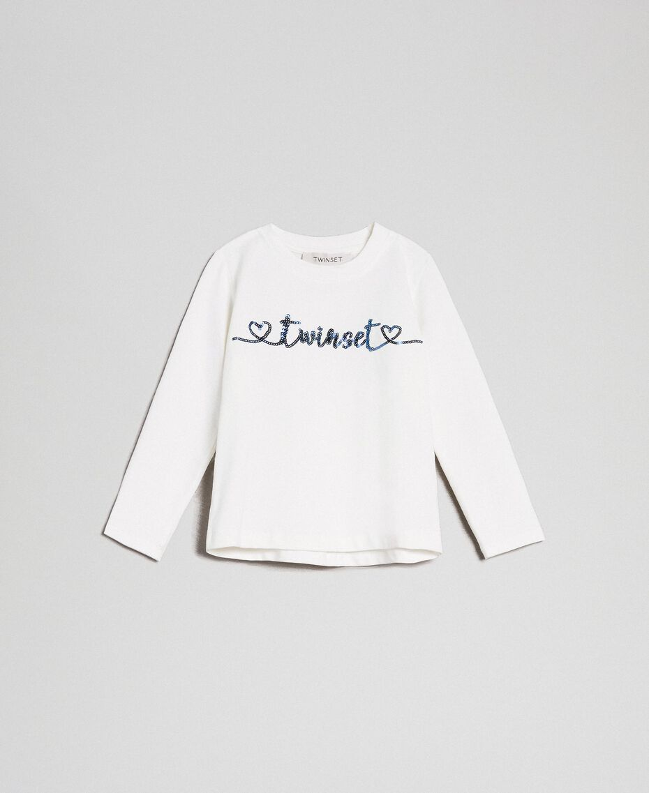 T-shirt with sequinned logo Off White Child 192GB244C-01