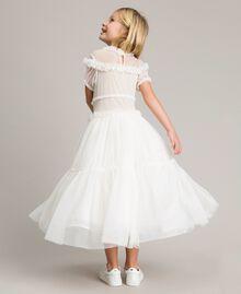 Tulle long dress Pale Cream Child 191GJ2Q20-03