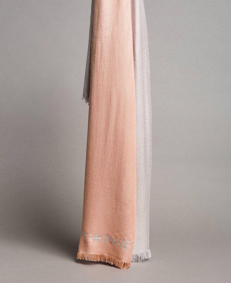 "Lurex-Jacquard-Schal ""Bellini"" Pink Frau 191TA4366-02"