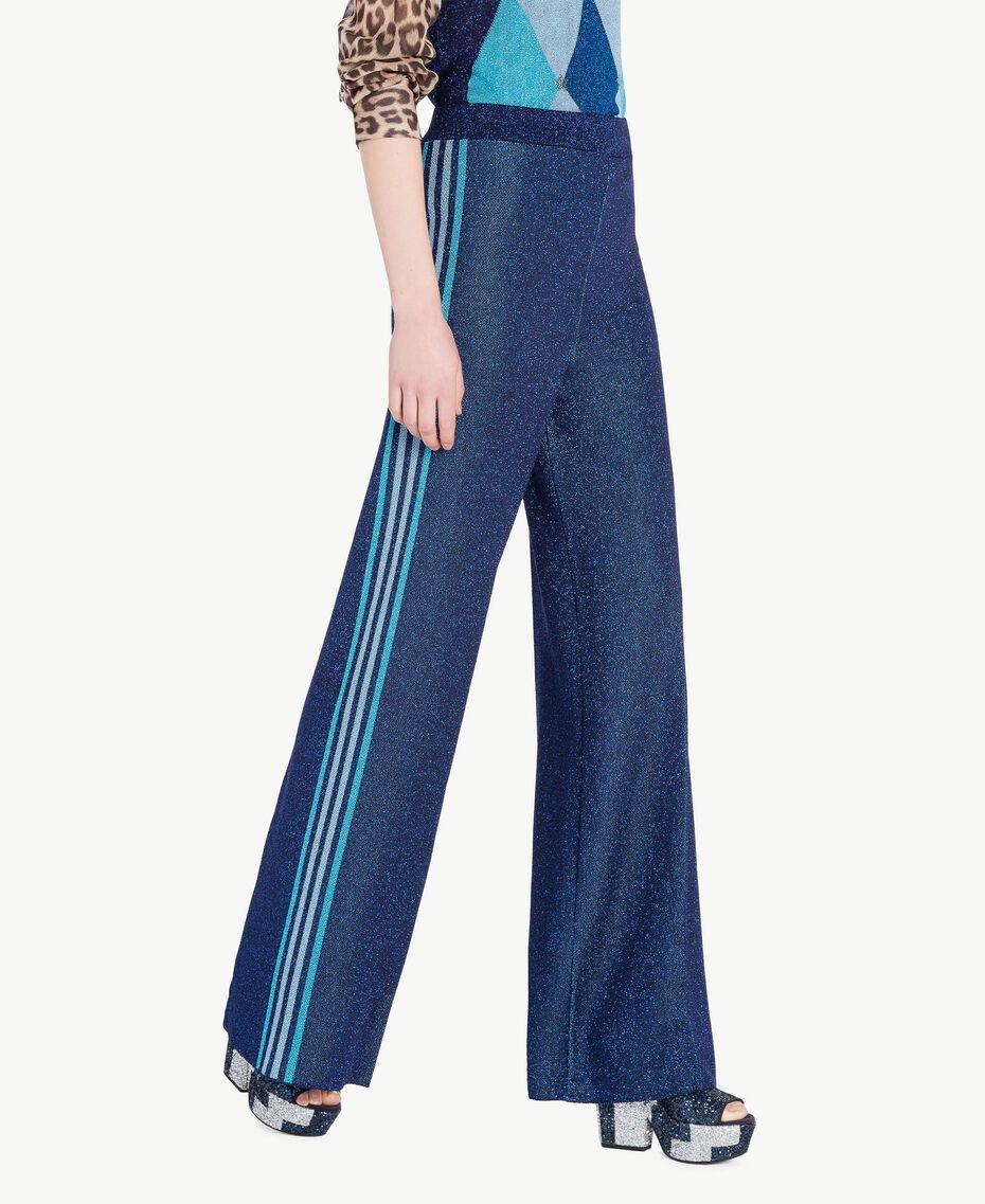 Lurex trousers Royal Blue Lurex Woman PS83ZE-02
