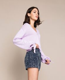 "Cashmere blend boxy jumper ""Ballerina"" Purple Woman 201TP3011-02"
