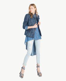 Veste perfecto bouclé Multicolore Lapis Bleu Femme JS82MC-05