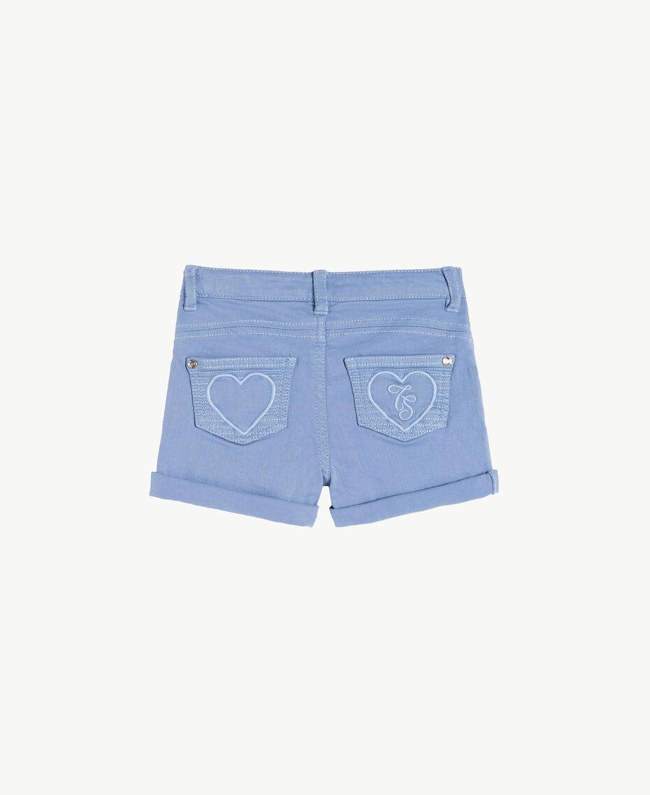 Shorts aus Baumwolle Unendlichkeits-Azur Kind FS82CQ-02