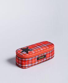 Trousse avec étoile Jacquard Rouge Carreaux Coquelicot Enfant GA8PHP-01