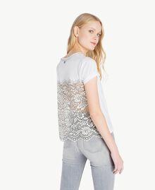 T-Shirt mit Perlen Weiß Frau JS82RL-03