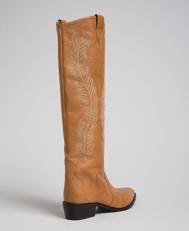 Texas boots with embroidery Tobacco Woman 192TCT06A-05