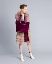 Kleid aus Seide und Kaschmir Bordeaux Frau PA83GE-0T