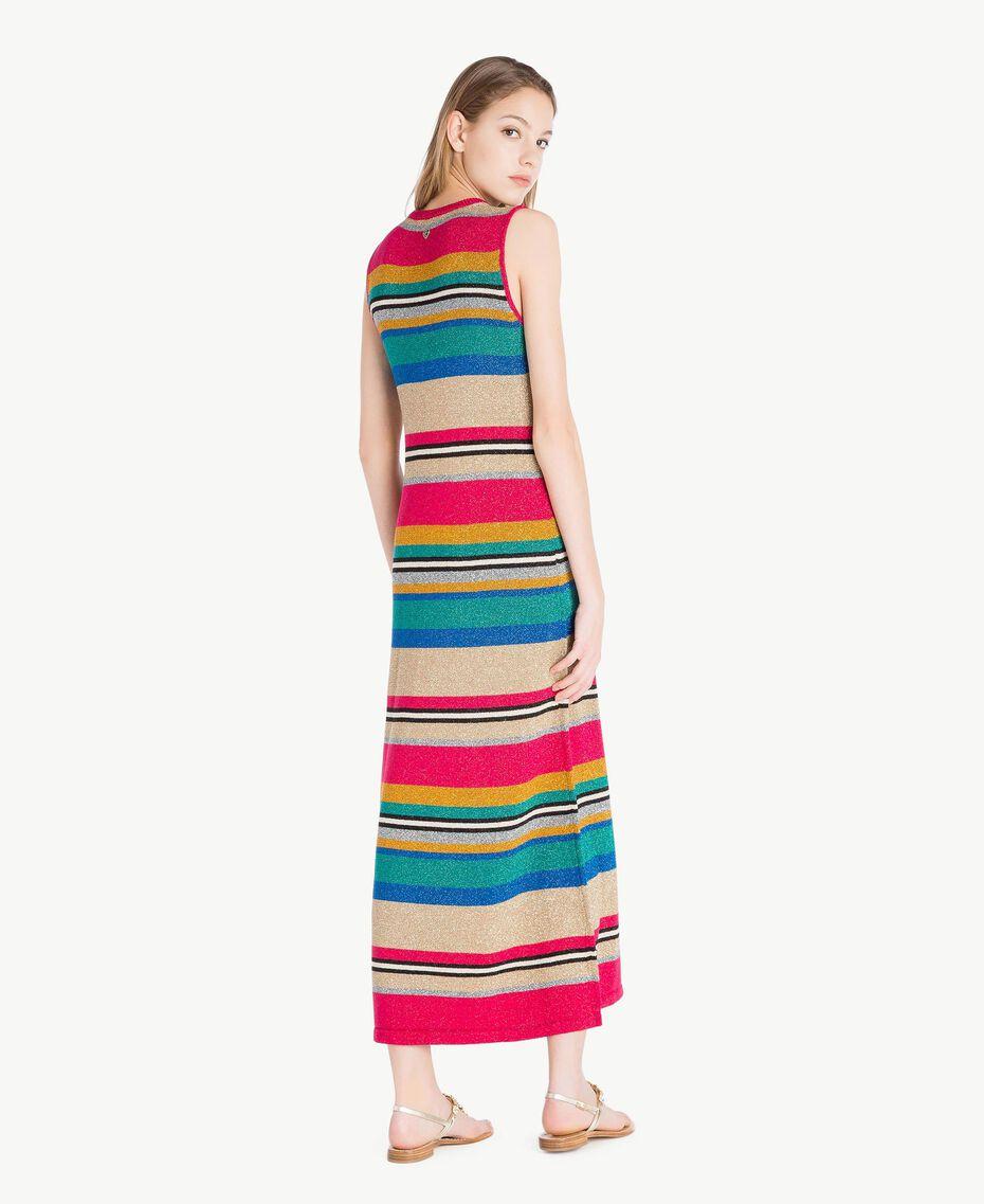 Kleid mit Lurex Multicolor-Lurexstreifen Frau TS833N-03