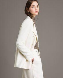 Blazer en lin mélangé Blanc Neige Femme 191TP2203-02