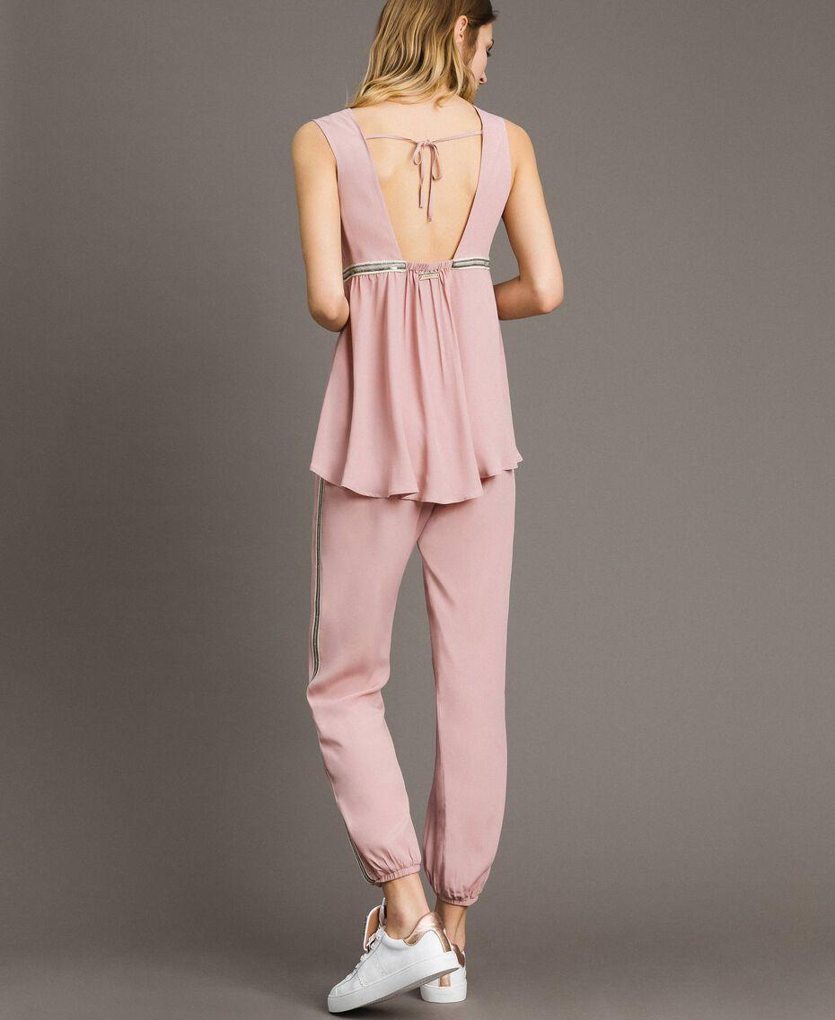 """Jogginghose mit Pailletten """"Pink Bouquet"""" Pink Frau 191LB2LDD-03"""
