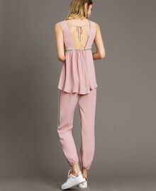 """Top with sequins """"Pink Bouquet"""" Woman 191LB2LEE-03"""