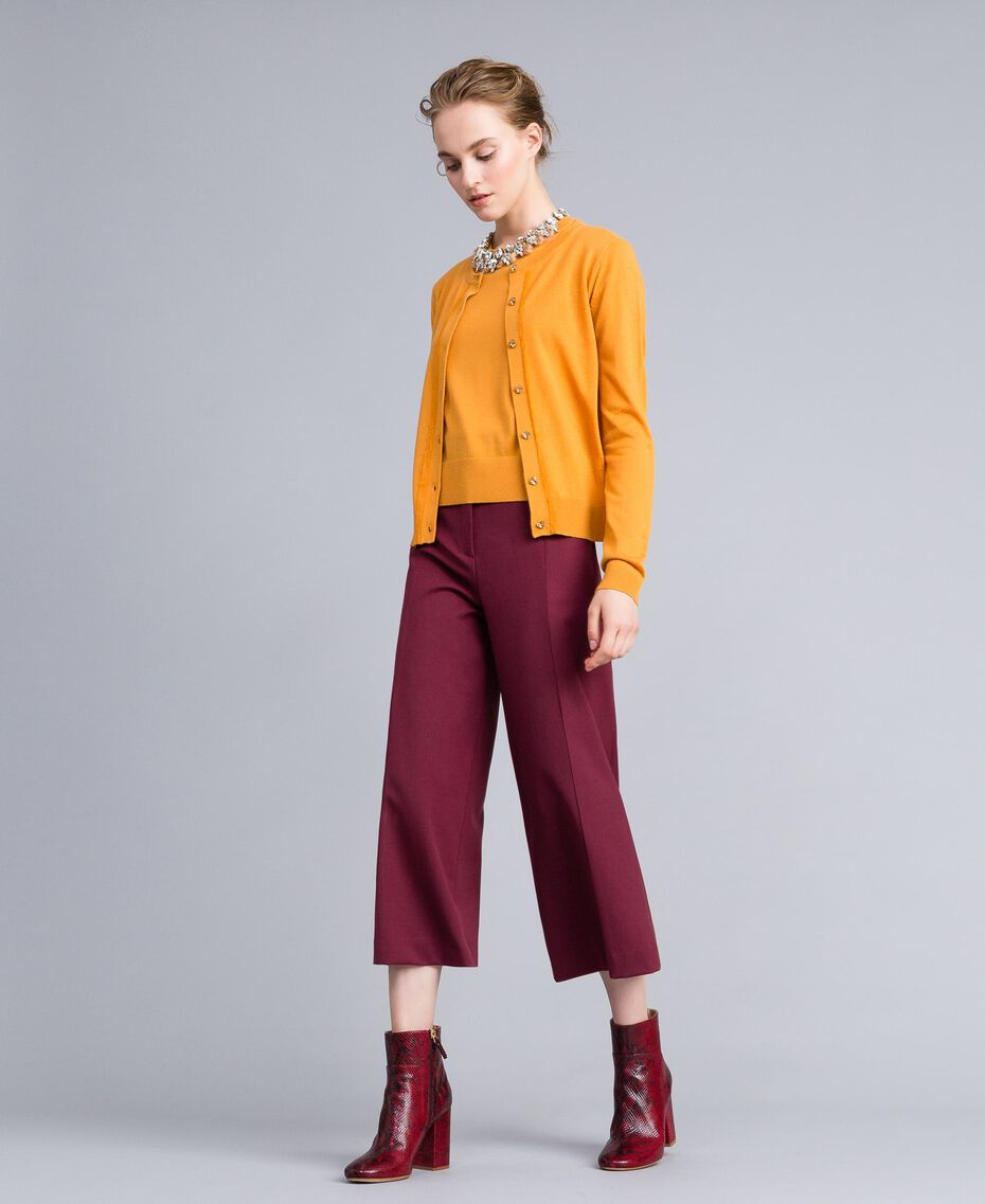 Silk and cashmere mandarin collar top Brandy Woman PA83GF-0T