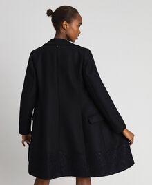 Manteau en drap avec dentelle Noir Femme 192TP2314-03