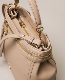 Large faux leather New Cécile bag Nougat Beige Woman 201TO8180-02