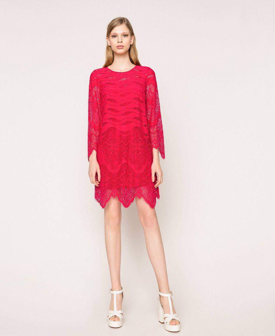 Платье из кружева макраме Вишня женщина 201TP2030-01