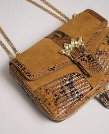 Grand sac Rebel à bandoulière en cuir et cuir velours Imprimé Python Brandy Femme 192TO8241-02
