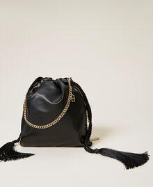 Sac modèle sacchetto avec franges de perles Noir Femme 212TB7300-04