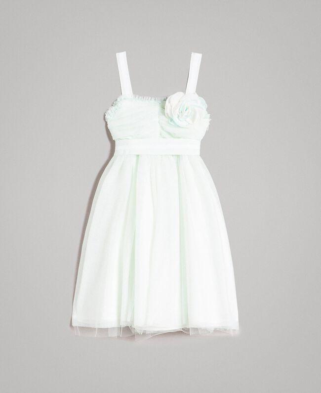 """Robe en tulle avec broche en forme de fleur """"Aigue"""" Bleu clair Enfant 191GJ2QM0-01"""