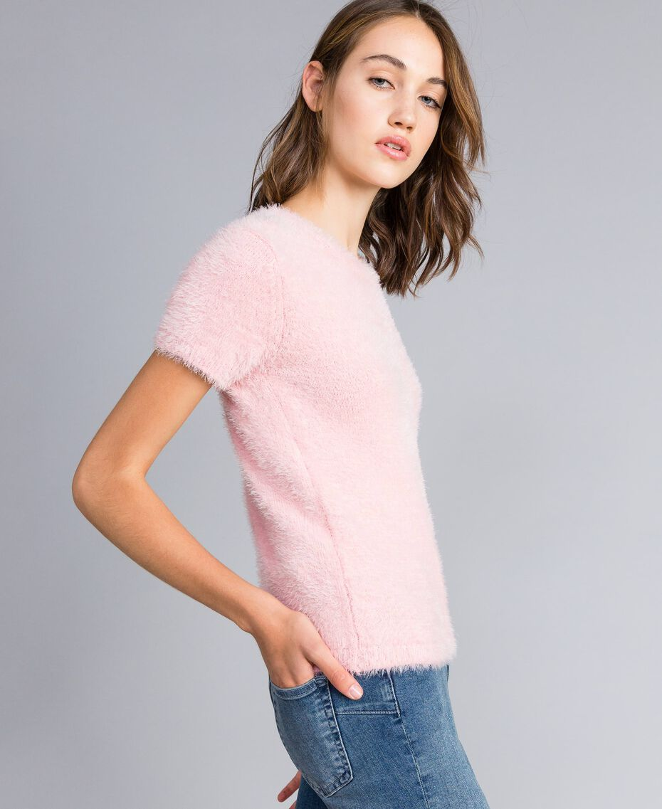 Maglia in fur knit con spille Rose Cloud Donna JA83GA-02