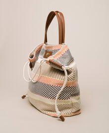 """Weaved fabric shopper Multicolour """"Milkyway"""" Beige Woman 201LM7ZJJ-03"""