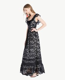 Vestido largo de encaje Negro Mujer TS828N-02
